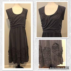 Garnet Hill Sleeveless Gray Dress